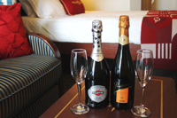 A Sweet Welcome and an Elegant Farewell  - A bottle of Martini & Rossi Asti Spumante in your stateroom on embarkation, and a farewell bottle of Korbel Brut Champagne on the last night of your cruise.
